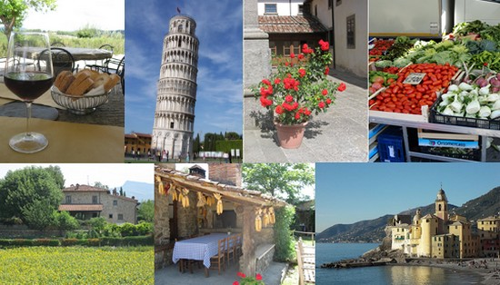 my travel italy pictures in a collage showing wine, food, and places in Italy